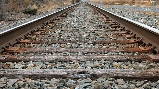 jernbanen, skinnene, tog, jernbane, tog, spor, jernbane spor