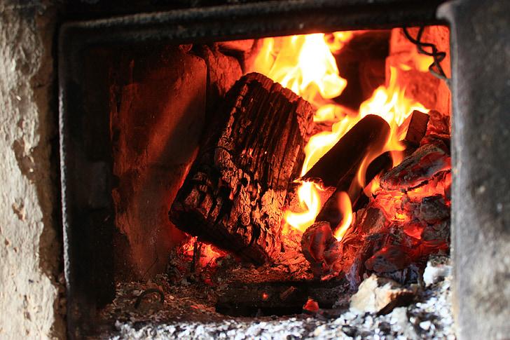 ahi, Koster, tuhk, tulekahju, palavik, säde, küttepuud