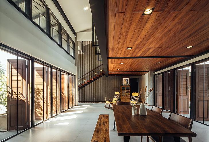 Biệt thự, Hall, trong nhà, trong nhà, kiến trúc, hành lang, không có người