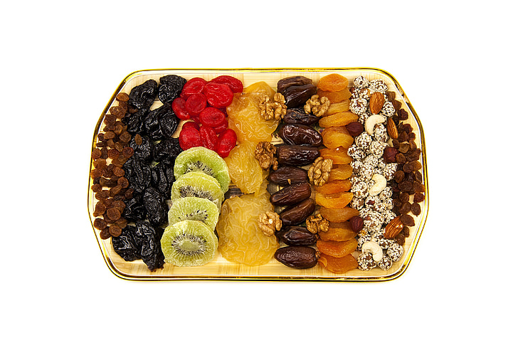 kuivatatud puuviljad, segatud, toitumine, puu, Suhkrustatud puuviljad, turu, rosinad