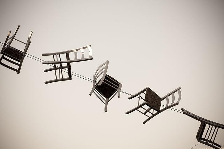 vida, bellesa, escena, cadires, Art, resum, no hi ha persones