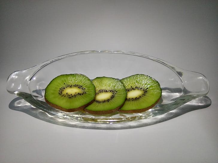 Kiwi, Kiwi skiver, glas, banan-båd, Kiwi grøn hjerte, zhouzhi kiwi