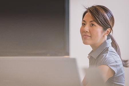 persona, sieviete, femal, darījumu sieviete, darba, profesionālās, biroja