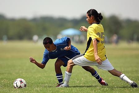 футбол, действие, футболисти, футболисти, играта, топка, спорт