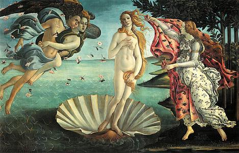 ภาพวาด, la nascita di venere, ตึง, การเกิดของวีนัส, ภาพวาดสีน้ำมัน, งานศิลปะ, ศิลปะ