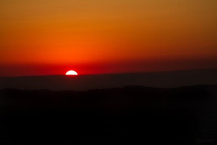 solnedgång, Orange, solen, naturen, soluppgång, Sky, gul