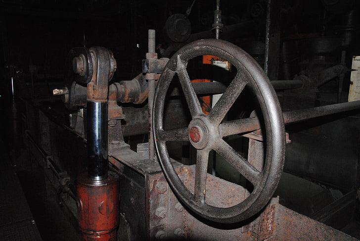 valve, machine, industry, museum, bill, zollverein, factory