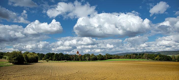 autumn, landscape, nature, view, heaven, clouds, sky
