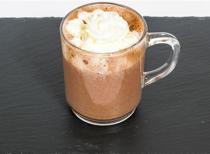 xocolata calenta, Lumumba, Conyac, crema batuda, cacau, càlid, beguda