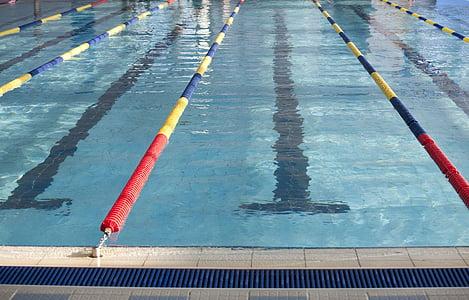 Natació, exercici, piscina, marcador de carril de natació