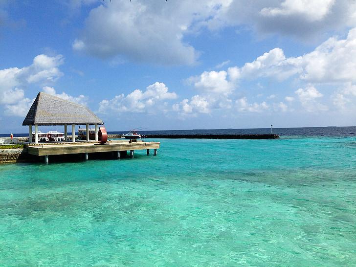 maldives, water villa, sea