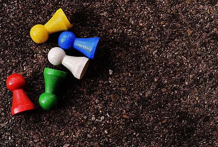 jugar pedra, colors, figures, color, fusta, jugar, caràcters de joc