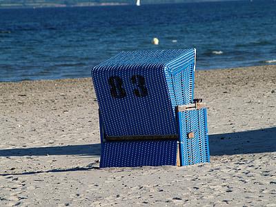scaun de plaja, plajă, Marea Baltică, mare, coasta, nisip, linia de coastă