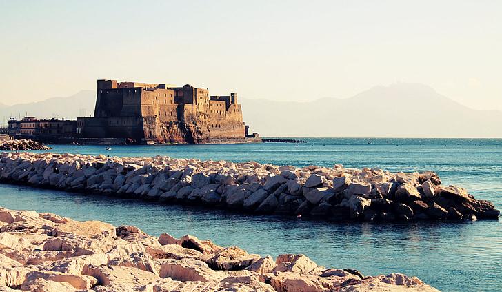 Νάπολη, στη θάλασσα, Κάστρο, πόλη, προκυμαία, νερό