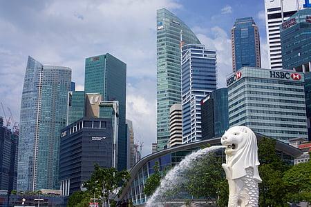 Singapura, Kota, air mancur, arsitektur, Asia, Bisnis, pemandangan kota