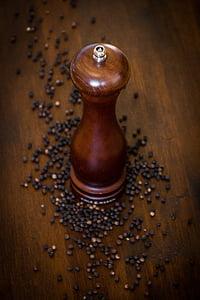 hạt tiêu, Pepper mill, sắc nét, hưởng lợi từ, gia vị, Các loại ngũ cốc, hạt tiêu đen