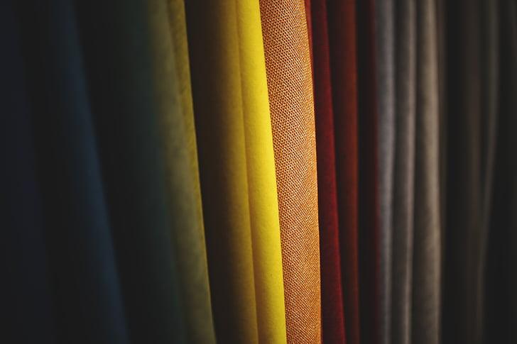 teixit, color, colors, taronja, groc, vermell, dissenyador