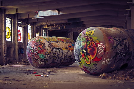 lost places, factory, old, lapsed, building, hall, ruin