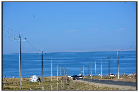 小さな新鮮な, 青海湖, ブルー