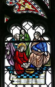 kirik, akna, kiriku aken, vitraaži, pilt, Inglismaa, Guernsey