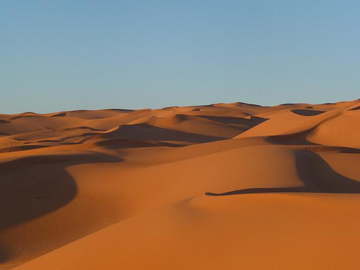 Libija, puščava, ostalo, Sahara, krajine, pesek, Dune