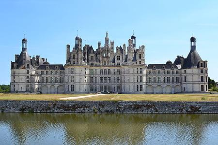 Chambord, Castell de chambord, Castell Reial, Renaixement, Castell, arquitectura, Vall del Loira