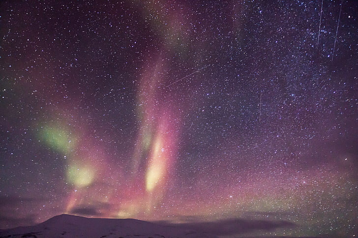 Aurora, Auroras, Northen lys, scooter, sne, is eventyr, lys fænomen