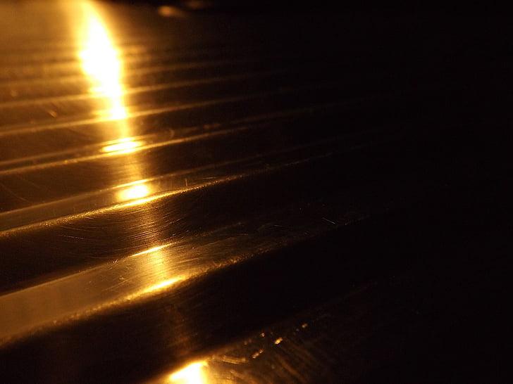 stål, bakgrund, ljus, ljus kontraster, skugga, Orange