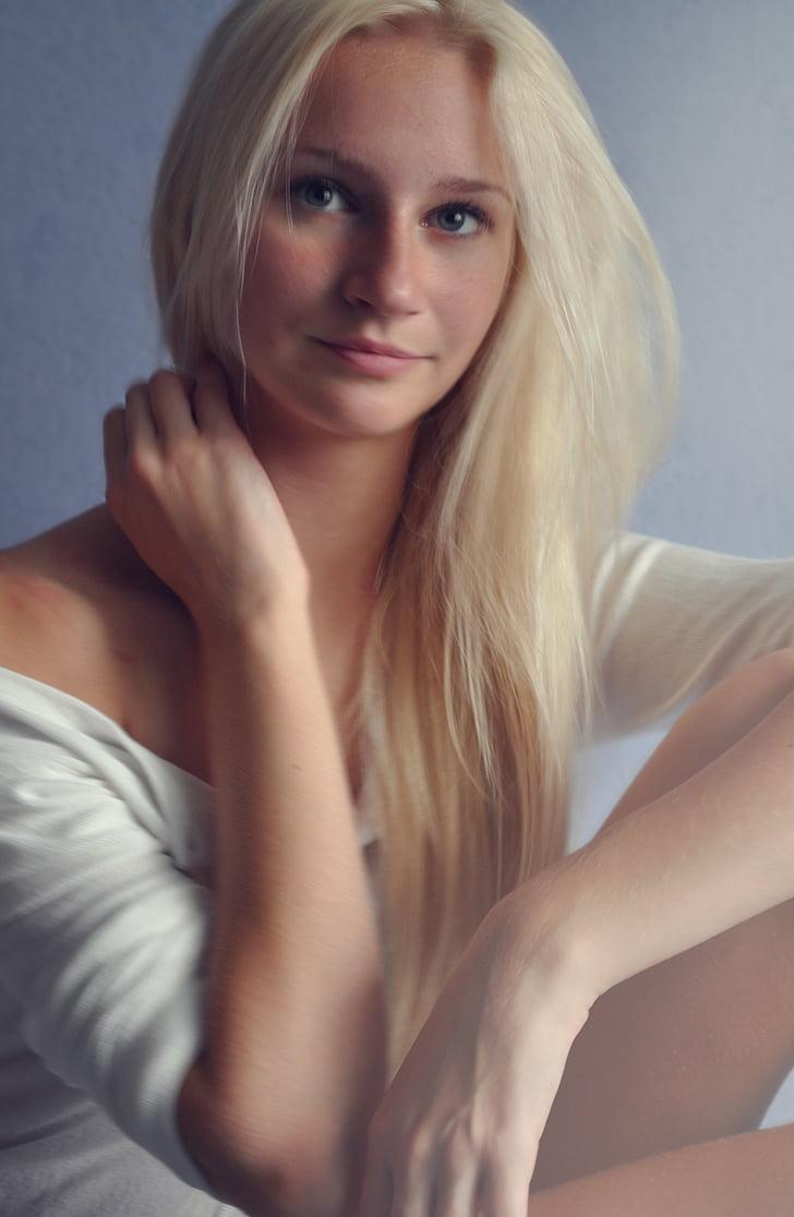 girl, portrait, blonde, beauty, model, erotic, young