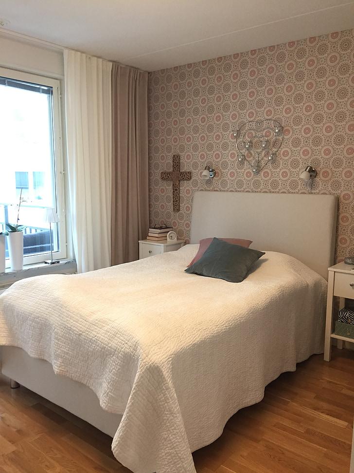 bedroom, interior design, bed, decor