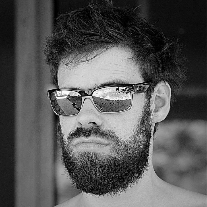 man, people, sunglasses, beard, hipster