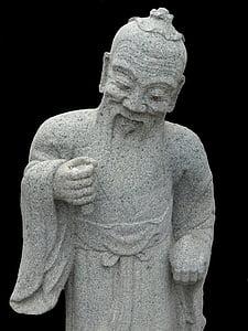 Buddhismus, Kamenná postava, Buddha, obrázek, chrám, náboženství, Dálný východ