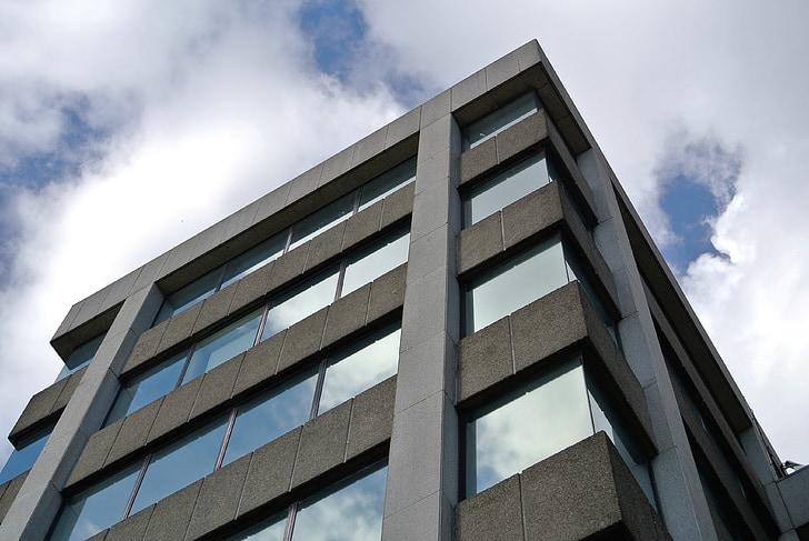 biroja, betons, ēka