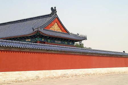 Bắc Kinh, Trung Quốc, mái nhà, con rồng, Tử Cấm thành, kiến trúc, cung điện