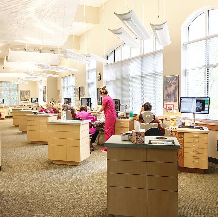 biroja, zobārsts, darbvietas, zobu, Dentist office