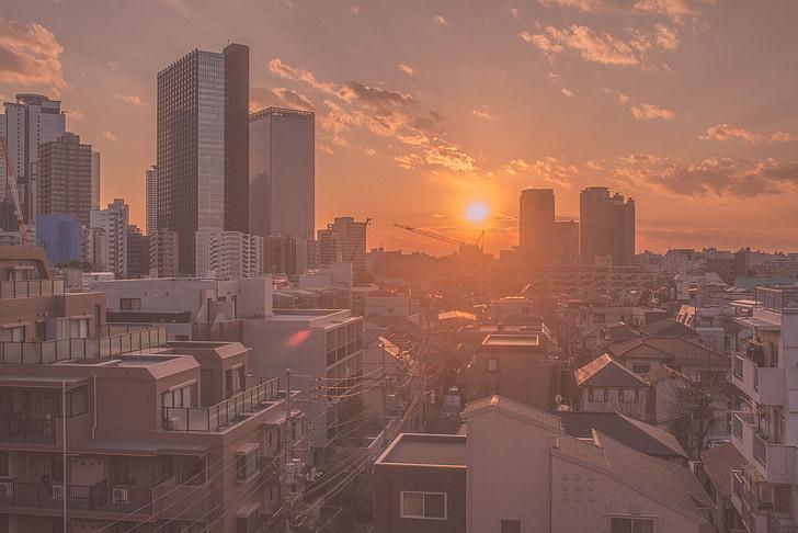 twilight, japan, city