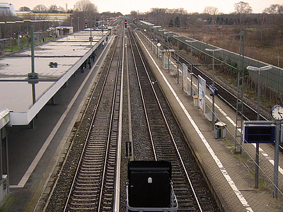 seemed, train, gleise, railway tracks, railway station, rail traffic