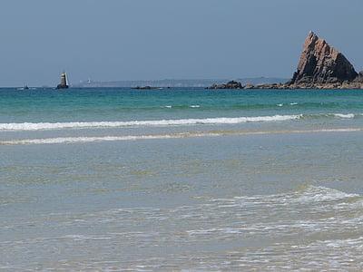 Bretanya, França, Mar, costa atlàntica, Costa, costa rocosa, Atlàntic