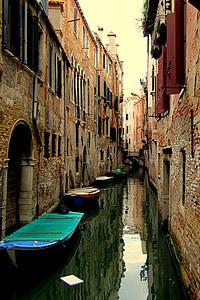 ช่อง, เวนิส, สตรีท, เมือง, อิตาลี, บ้าน, สถาปัตยกรรม