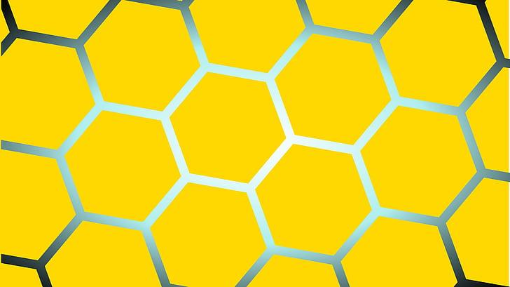 groc, plaça, rusc, forma geomètrica, vibrant color, color de fons, no hi ha persones