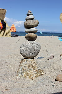Cairn, pierres, tour, stabilité, tour de Pierre, empilé, Balance