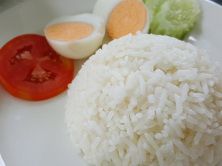 arroz, plato, alimentos, orgánica, comer, comida