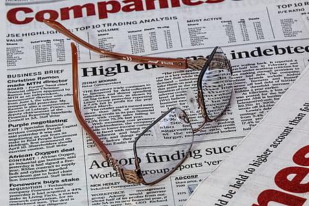 diari, espectacles, ulleres, cura dels ulls, visió, document, mitjans de comunicació