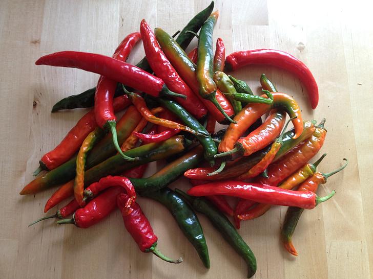 chili, paprika, Sharp, pepperoni, punane, köögiviljad
