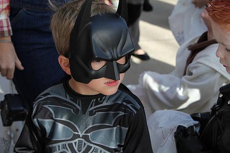 batman, costume, kid, young, halloween, bat, boy