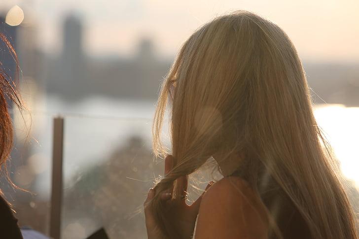 Cô bé, cô gái tóc vàng, mái tóc dài, người phụ nữ, mọi người, phong cách sống, phụ nữ