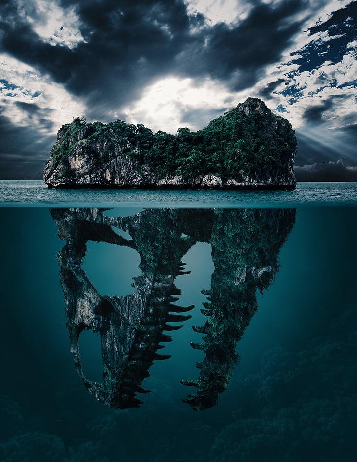 mister, Insula, Secretul, fundal, tapet, dispariţia, dinozaur