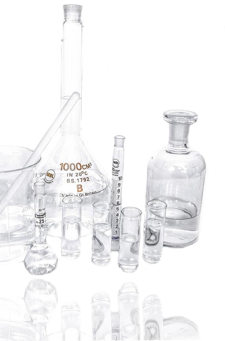 Laboratori, recerca, Química, prova, experimentar, molts, indústria farmacèutica