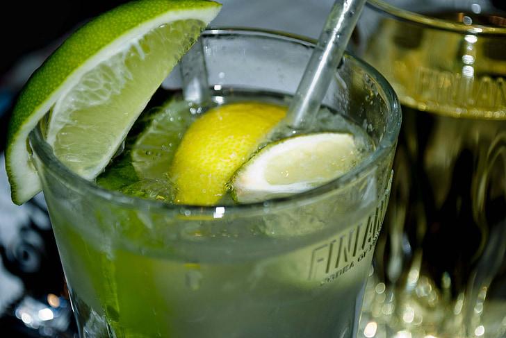 piće, koktel, pub, bar, kul, piće, tonik