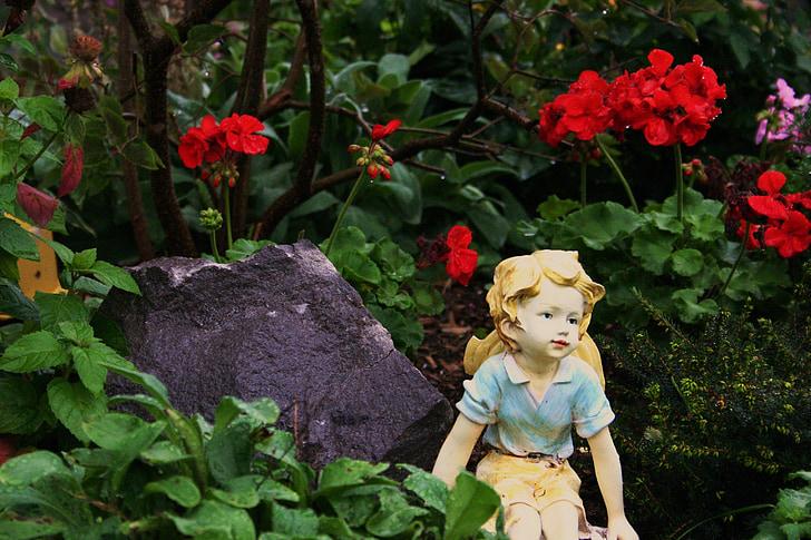 garden, fairy, summer, fantasy, flowers, dreamy, fairytale